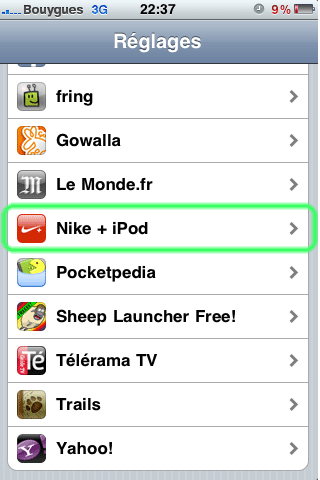 comment marche nike + ipod