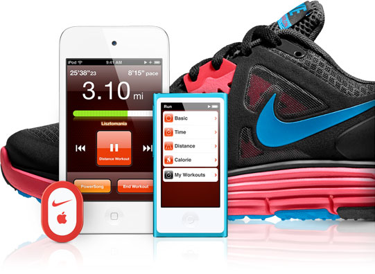 how to connect nike plus shoes to iphone